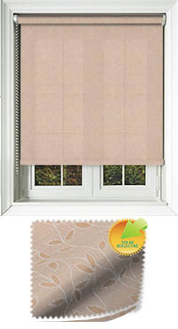 Vines Solar Nutmeg Cordless Roller Blind