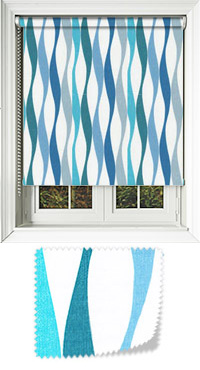 Wave Lagoon Motorised Roller Blind