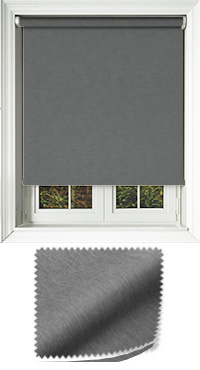 Weave Charcoal Motorised Roller Blind