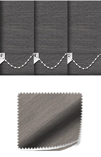 Weave Graphite Vertical Blind