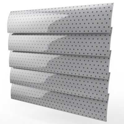 White Perforated Motorised Roller Blind