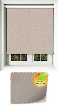 Yukon Fudge Motorised Roller Blind