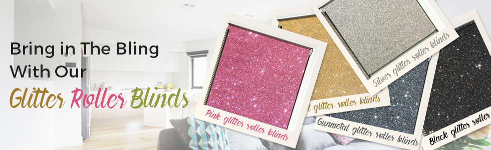 Metallic Glitter Roller Blinds